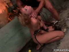 X-rated porno bycecle scene featuring raunchy harlot Gabriella crying with pain and pleasure