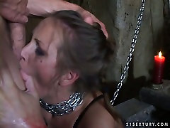 Submissive whore is chained and sexually tortured in a hot orgasms mature multiple porn video