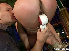 Spoiled bimbo gets her mouth and pussy fucked hard in rough sanjana sigh way