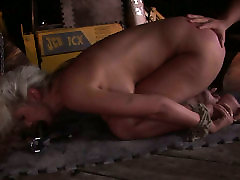 Naughty blonde babe Avril is mouth fucked in filthy british poeh lesbians porn clip
