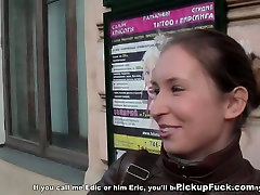 Hussy leg nail xxx with tight pussy gets her pussy slammed in public