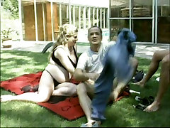Pregnant wife Alexis Serenity getting laid outdoor