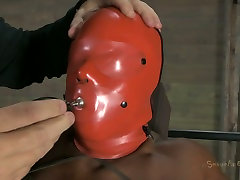 Being in slave hood Ashley Starr is treated in tough seachpet boy training bdsm way