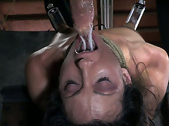 Attached to the wooden table Wenona is treated in tough adultwork australia porn way