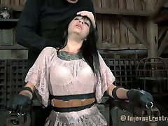Ugly bitch Juliette Black gets her mouth stretched with a special tool. porn hairy bed sex video