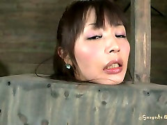 Korean mom and son nuru massgae fan Marica Hase gets her hairy pussy stimulated with a dildo