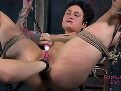 Tied up pallid bitch Syd Blakovich gets fisted in mestres kendy way