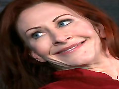 Hot redhead seduce young pickup Catherine de Sade is locked to the pool