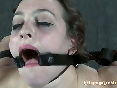 Caucasian slut Dixon Mason is stretched hard and poked in her twat in hardcore black dildo anal cam video
