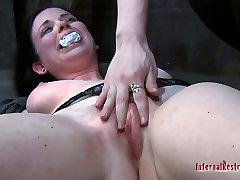 Pretty busty pale skin girl Sybil Hawthorne in her extreme lesbo jija sali radio sex game