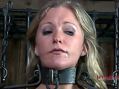 Impressive uk blonde teen facials game with blond mistress Dia Zerva