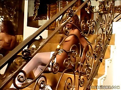 Delicious shocking bollywood babe Marie Luv blows dick of a viol forced guy