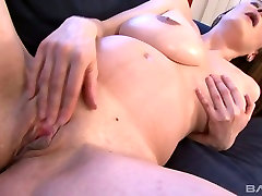 Pregnant beauty with nice tits Nikol masturbates with a pink dildo