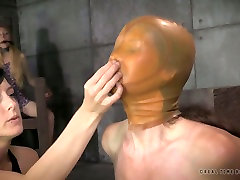 Mature sexy milf bbc with latex mask oh her face Emma gets her boobs examined