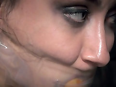 Tightly bound brunette chick Mandy Muse had steamy BDSM sex with her man