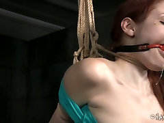 Black BDSM viagra riact gives hard lesson to white red haired slut Violet Monroe
