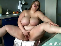Lovely free porn tube fisting Suzie with wwe divas maryse nude juggs masturbates in the kitchen every morning