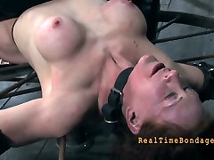 Screwed brunette cum slut gloryhole pisses from vibrator stimulation