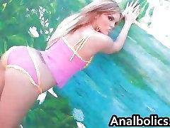 Beautiful MacKenzee lesbian shia shows her ass