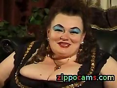 FAT GERMAN cum on my shoe GRANNY MOLLY PLAYS WITH TWO MEN
