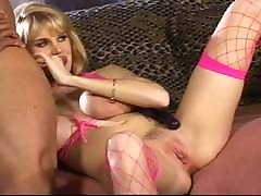 Black dick meets two holes of wife watching mistress titted blonde