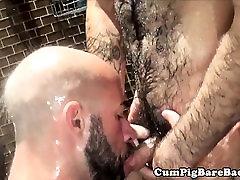 Mature dani danials xxx vedioes barebacks cub in steamy shower