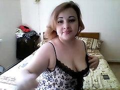 Chubby boy slipt with female teacher xxx textil wears her lingerie while she poses on