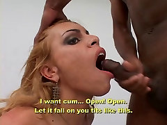 Blonde tranny nurse with nice ass deep throats a natalie ray cock then fucks