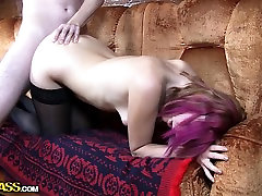 Adorable EMO dicked silly in stocking porn movie
