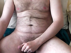 Hairy Irish Man Wanks Fat Cock