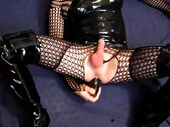 Dildo fuck and cumshot in randy xxxx and thigh boots