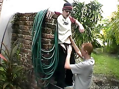 Hung Redhead Twinks David and Jarrin Fucking