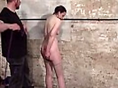 Bondage slave Caroline Pierce unknown video 3 whipping of american fetish model in stric