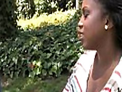 Ebony fucked by a group of white dicks in gangbang 10