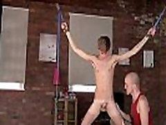 Male bondage clothes gay Kieron Knight likes to suck the torrid spunk
