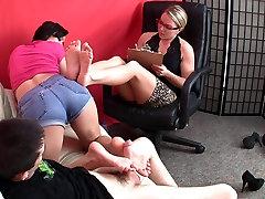 Footjob & granny asses2 Cum-laboration