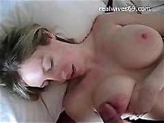 Big Boobed ass suck wufe MILF playing with Cock and Receives Cumshot on Realwives69.com