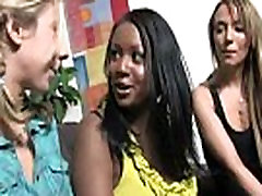 Interracial group blowjob from a fat college homemade slut 30