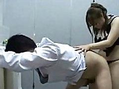 Japanese Curvy big boobs fat butt Femdom Strapon 3