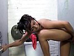 Sexy ebony enjoying gloryhole 24