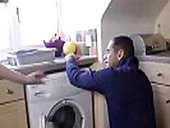 UK suntuk hot in stockings fucks repair man