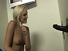 Ebony slut swallows cum sucking cardboard box gloryhole dick 8