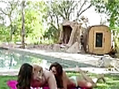 Cute sis xxx night teens making sex tape outdoors