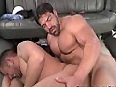 Skinny stud gets ass fucked by a muscled hunk