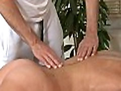 Getting arse filled at massage