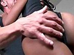 Beautiful ebony babe shakes her big booty and fucked