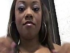 Hot ebony chick in interracial gangbang 13