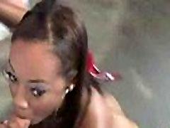 Hot ebony chick love gangbang interracial 22
