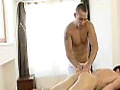Massaging throat with weenie