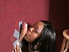 Gloryhole interracial porn : Hot ebony sucking big cock 35
